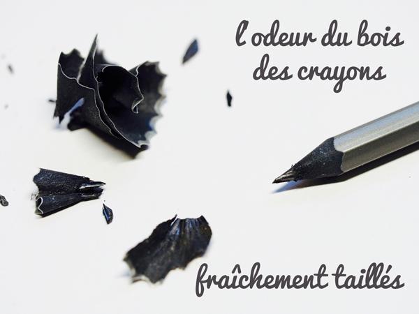 crayons de papier noirs